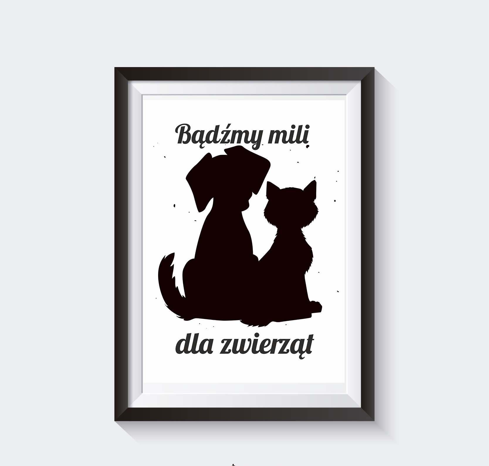 Plakat O Kocie I Psie Grafika Zwierzęta Do Pobrania Superplakatpl
