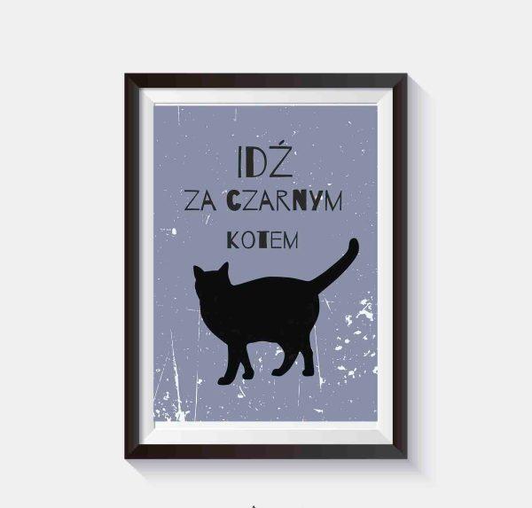 Kot grafika wektorowa plakat o kocie