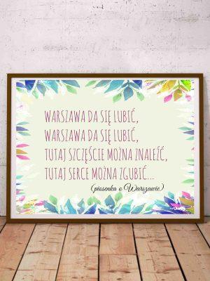 plakat z cytatem po polsku