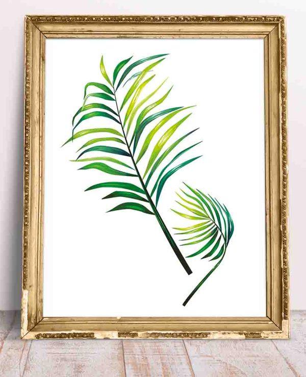 Modny plakat botaniczny roślina tropikalna