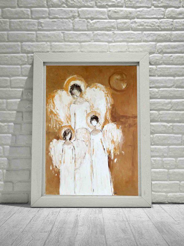 Plakat reprodukcja na papierze anioły