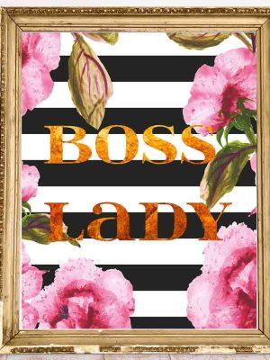 Boss Lady Plakat motywacyjny do biura