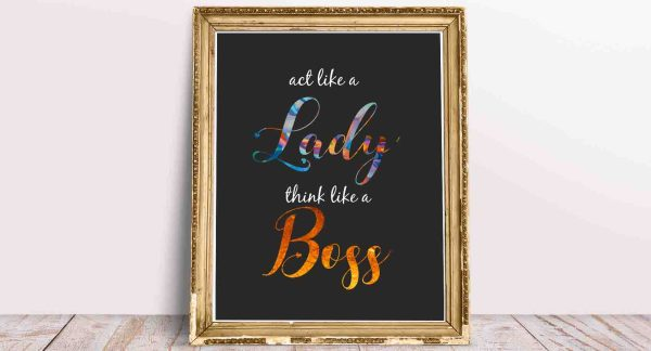 Dekoracja na ścianę do biura - plakat Boss Lady