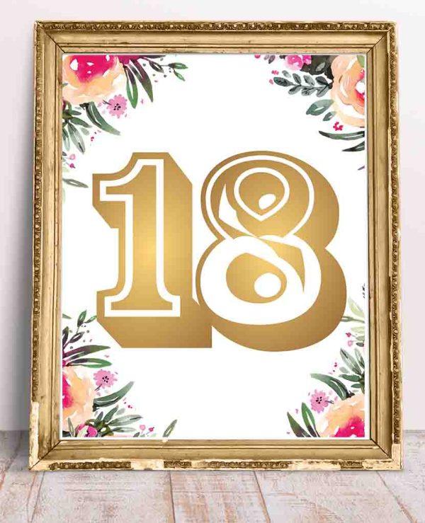 Plakat urodzinowy 18
