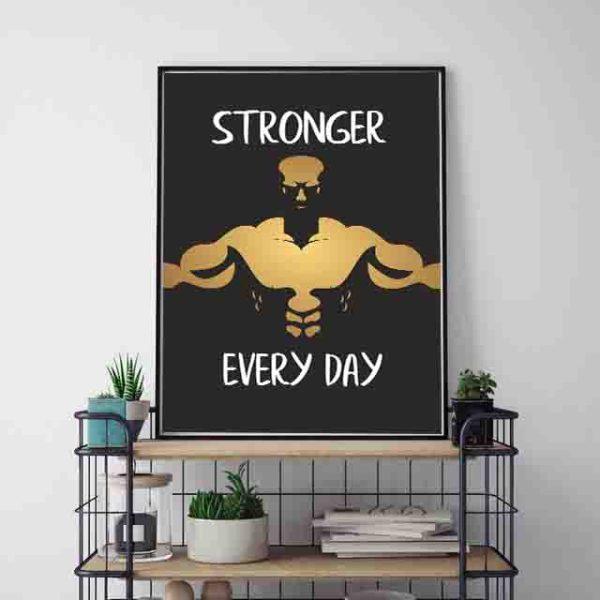 Motywujące cytaty na siłownię - plakat kulturystyczny