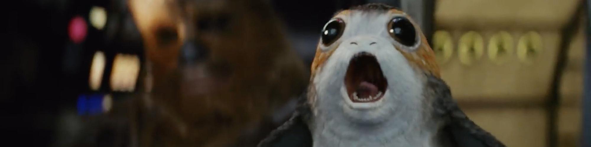 Un Porg dans Star Wars VIII : Les Derniers Jedi
