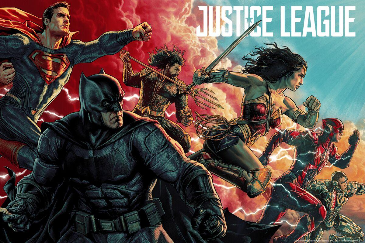 Justice League : le poster Mondo par Lee Bermejo