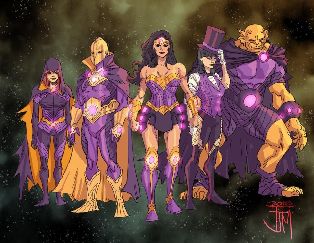 La team Wonder, concept art par Francis Manapul