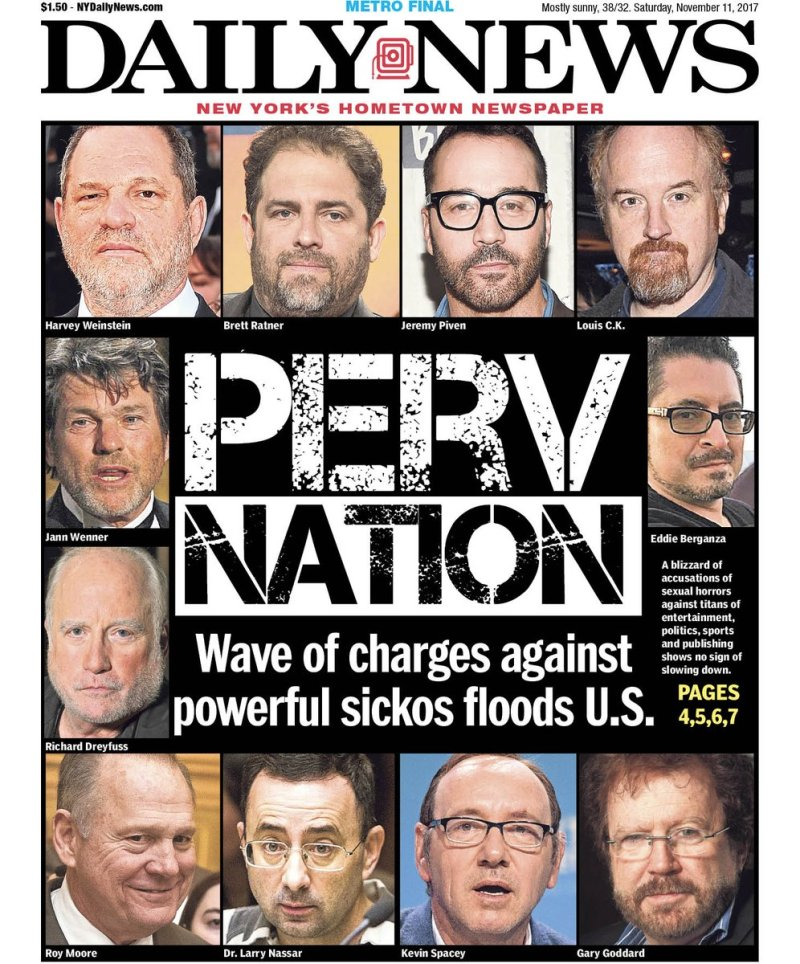 Perv Nation, couverture du Daily News