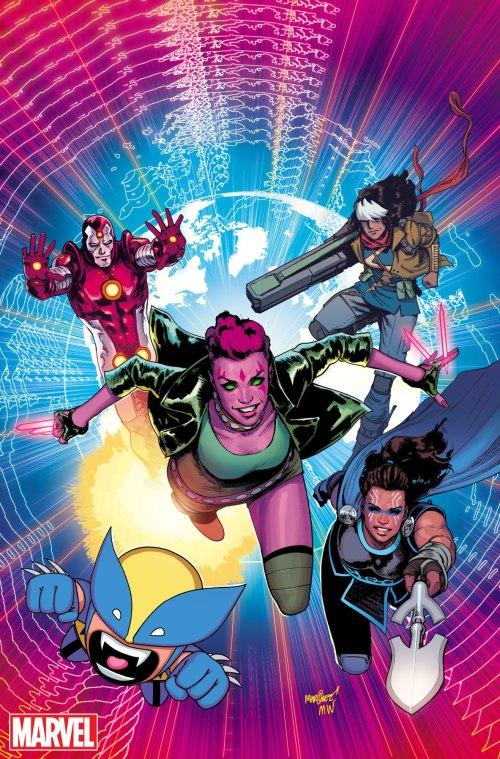 Exiles #1, couverture de David Marquez (Marvel Comics)