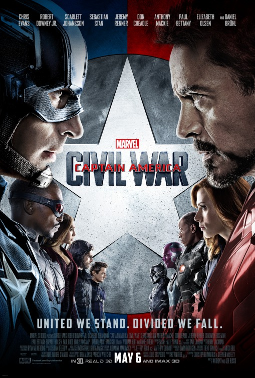 Affiche Captain America 3 : Civil War