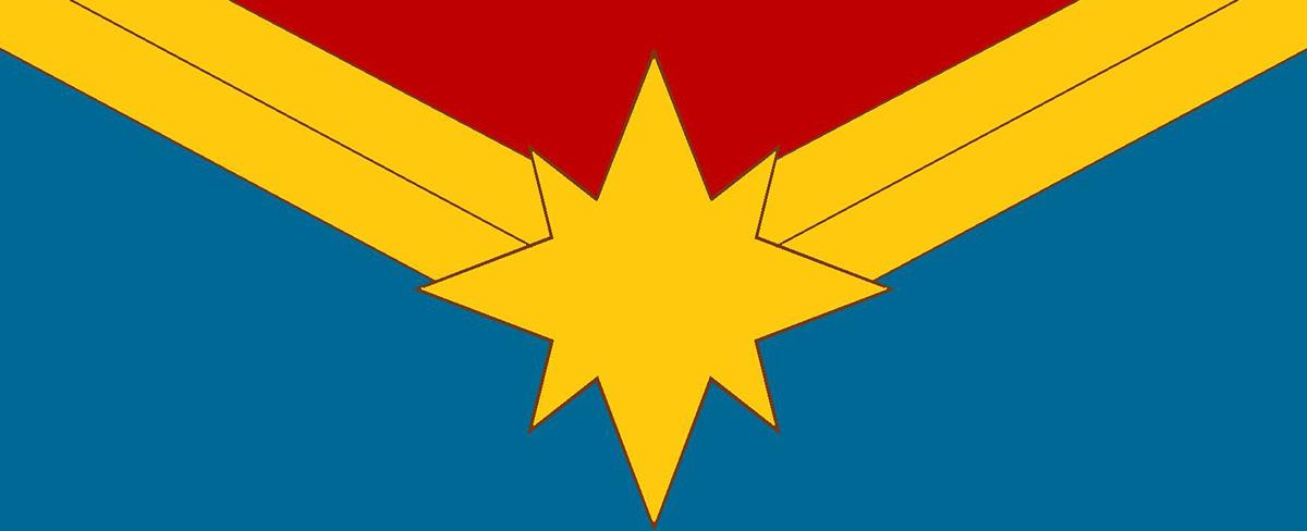Le logo de Captain Marvel.