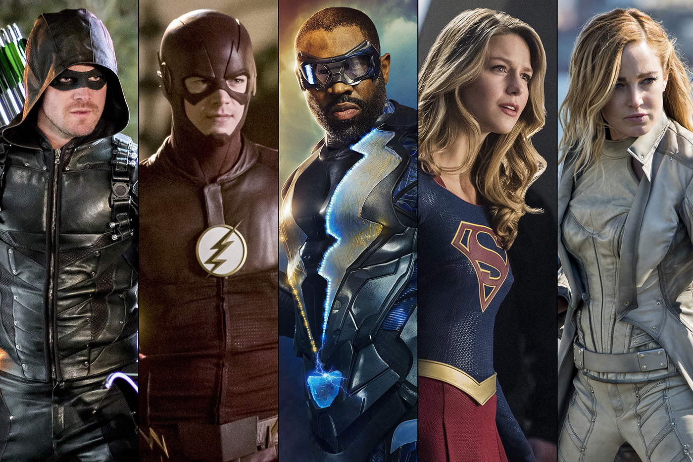 L'Arrowverse de la CW : Green Arrow, The Flash, Supergirl, Legends of Tomorrow et Black Lightning