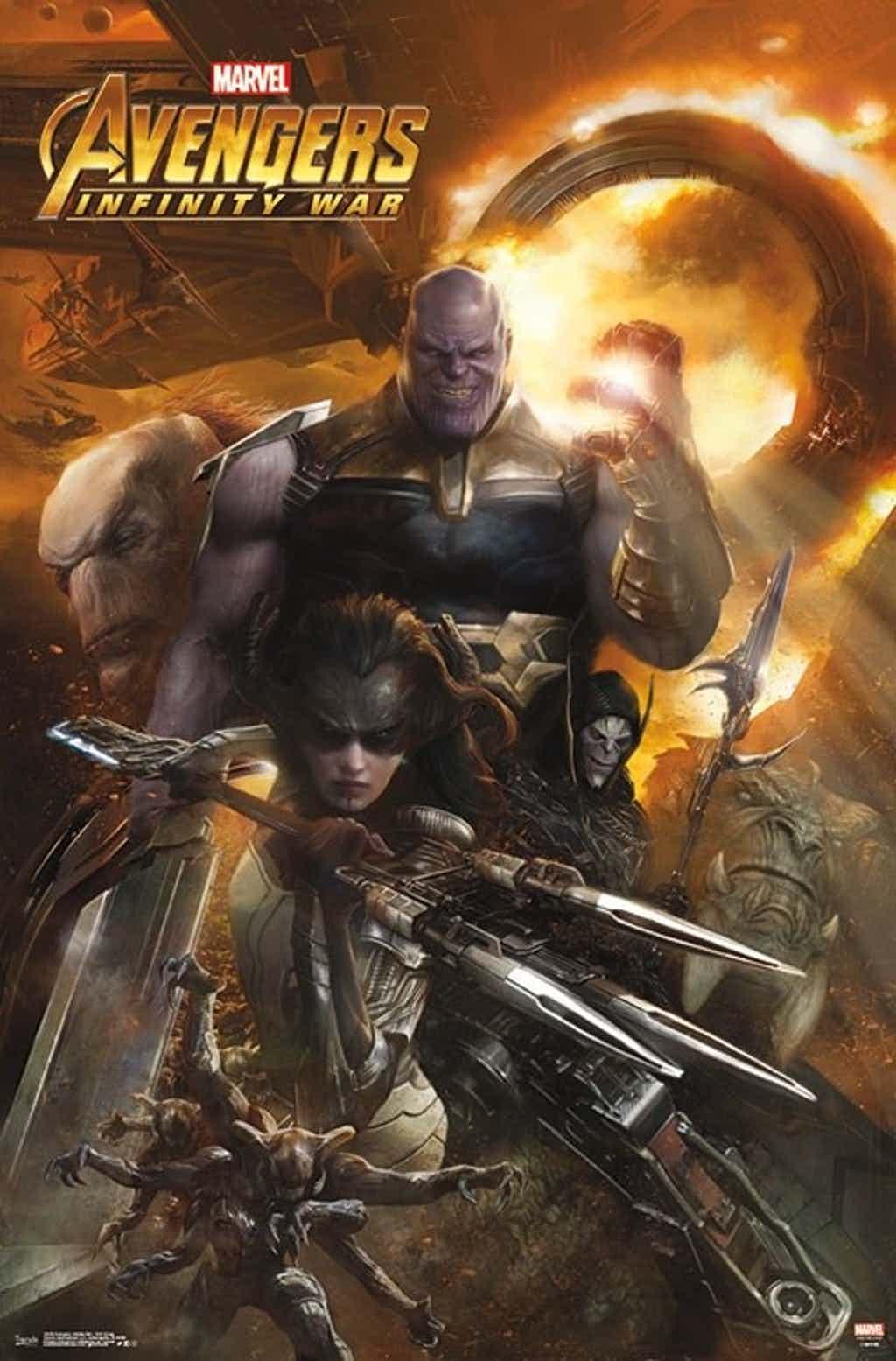 Avengers: Infinity War, le Black Order s'affiche