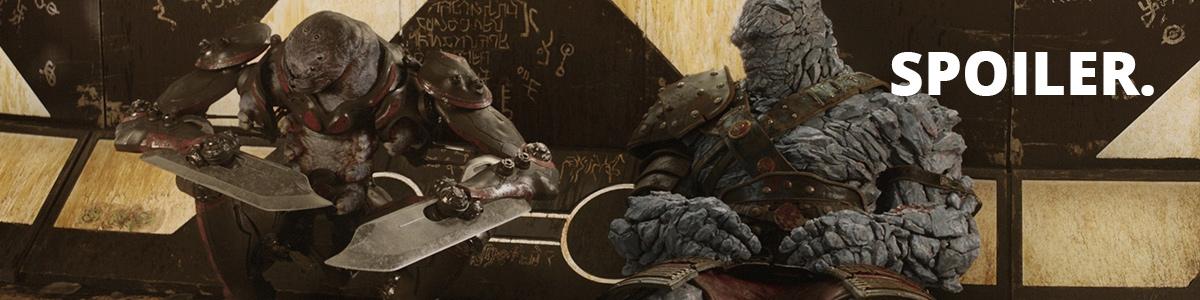 Korg et Miek dans Thor: Ragnarok