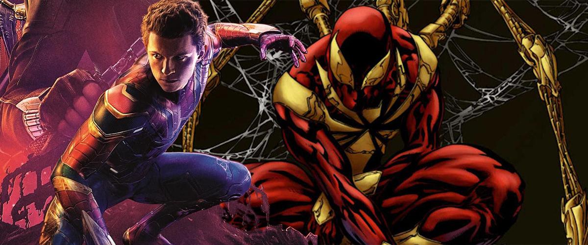 Dans Avengers: Infinity War, Spider-Man porte l'Iron Spider Suit conçu par Tony Stark