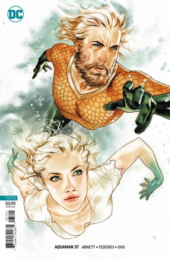 Aquaman #37 - couverture alternative par Joshua Middleton