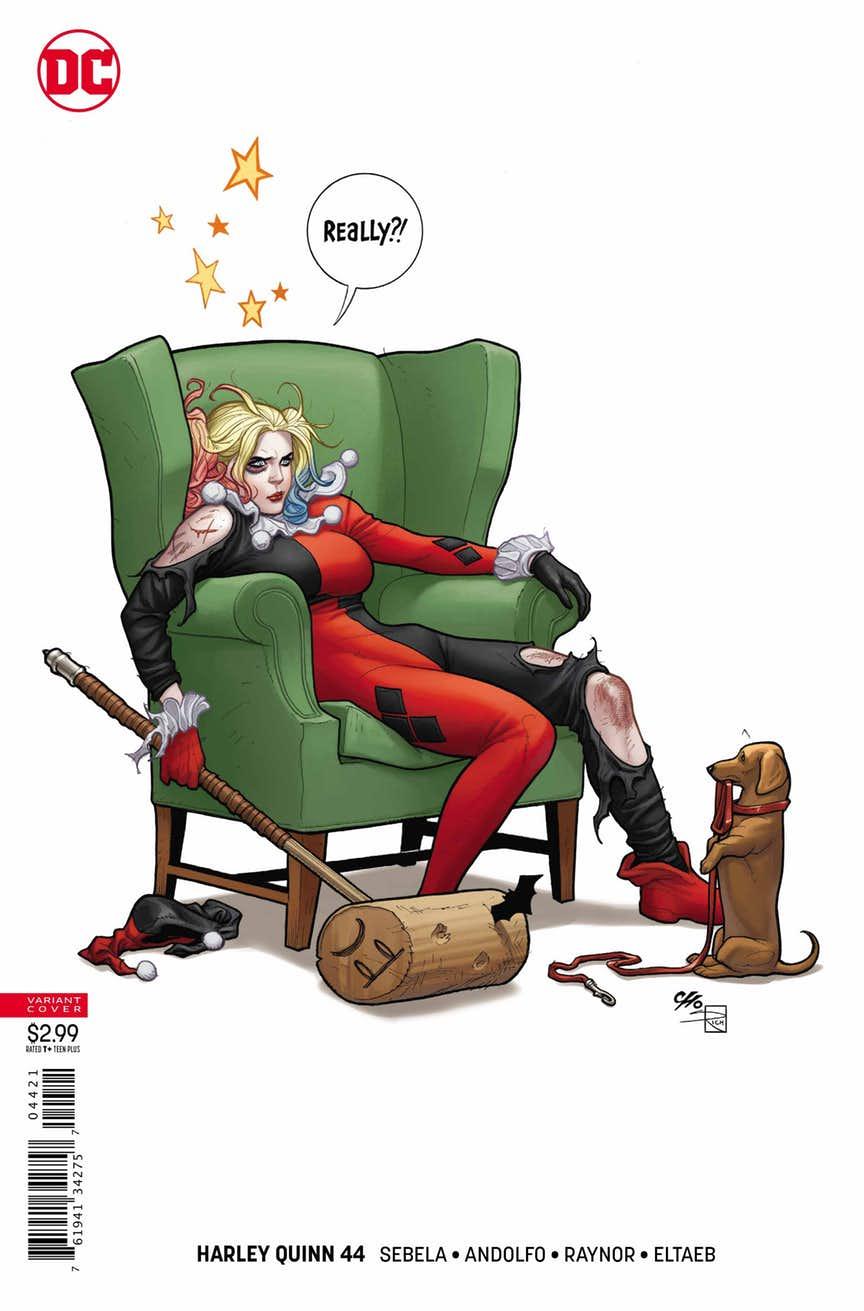 Harley Quinn #44, couverture alternative de Frank Cho