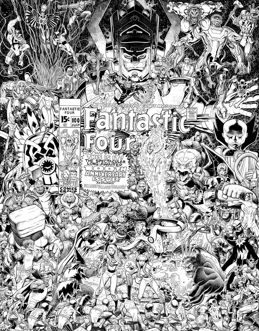 Fantastic Four #1 -couverture variante par Arthur Adams