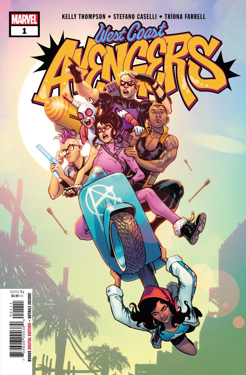 West Coast Avengers #1, la couverture régulière par Stefano Caselli.