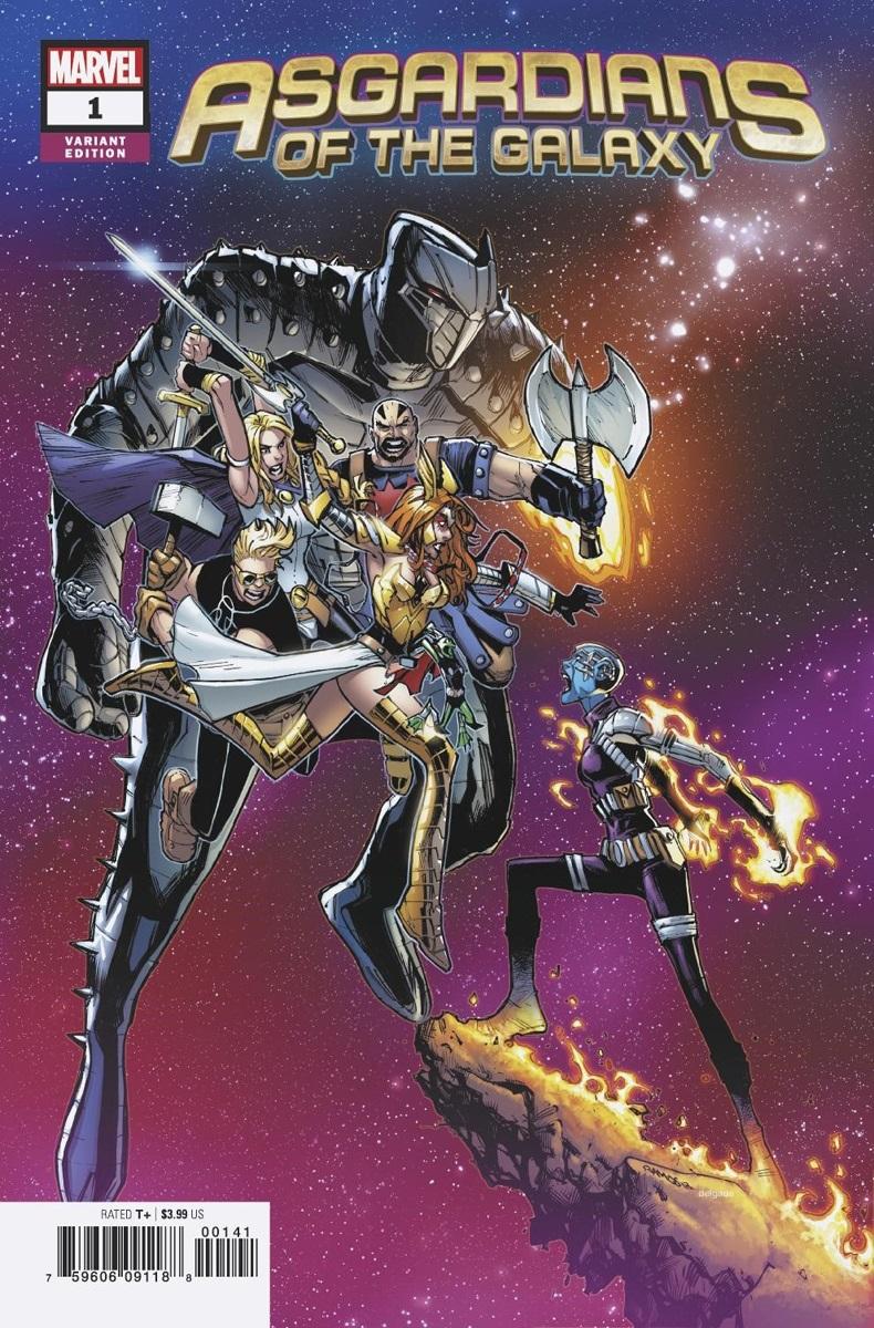 Asgardians of the Galaxy #1, couverture alternative par Humberto Ramos