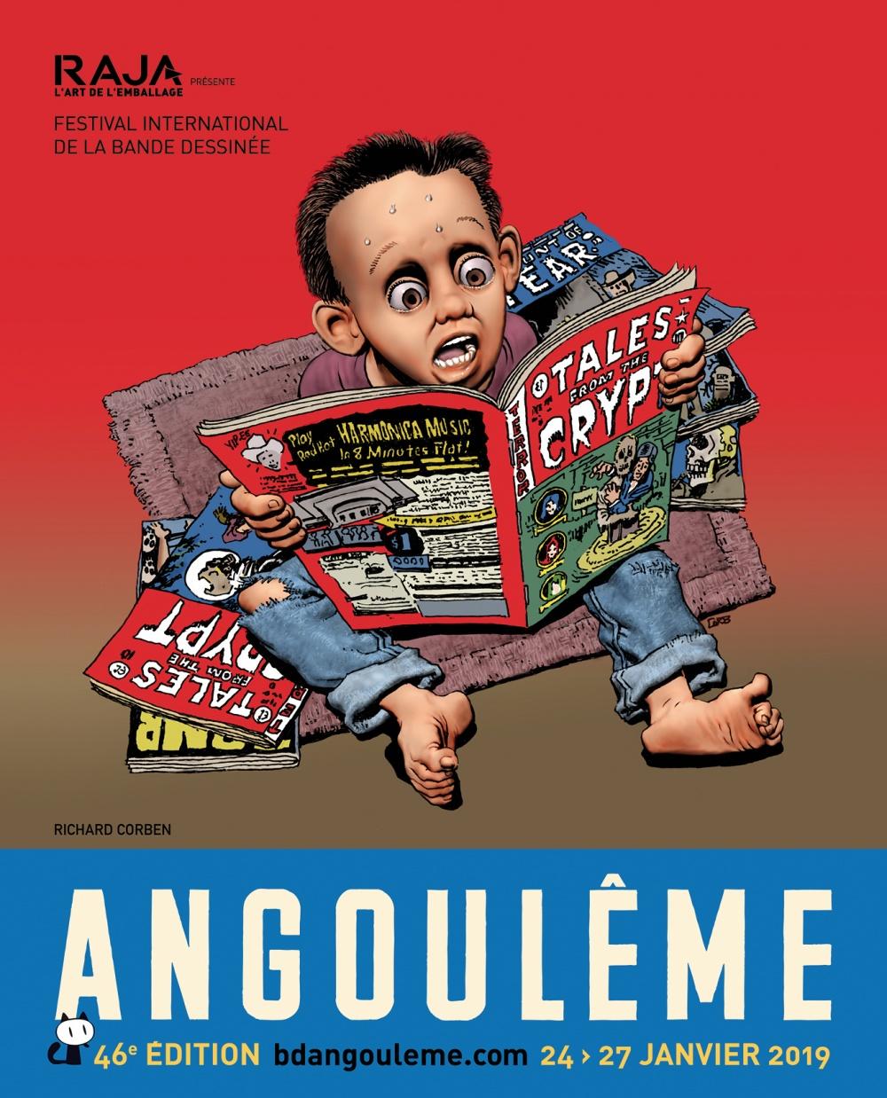 Festival International de la Bande Dessinée d'Angoulême 2019 - Affiche de Richard Corben