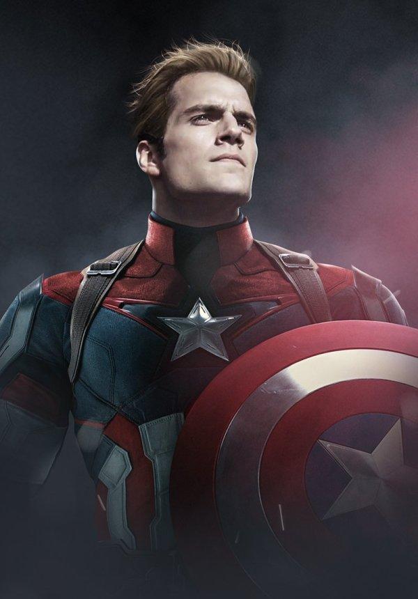 Henry Cavill est Captain America, par Bosslogic