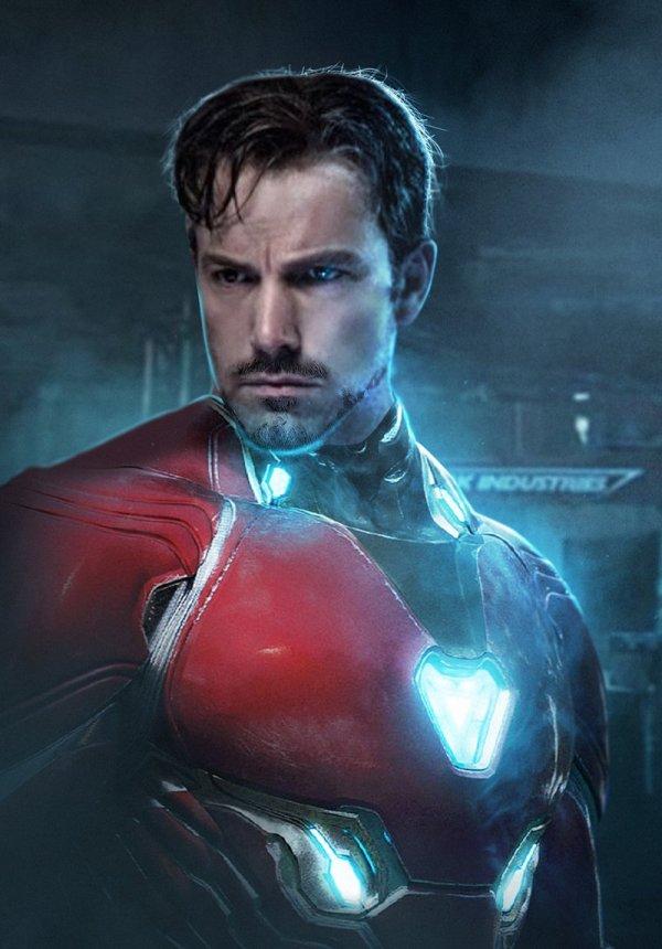 Ben Affleck est Iron Man, par Bosslogic