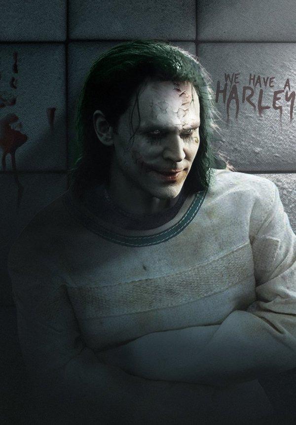 JTom Hiddleston est le Joker, par Bosslogic