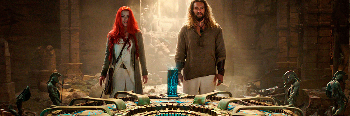 Aquaman (Jason Momoa), Mera (Amber Heard)