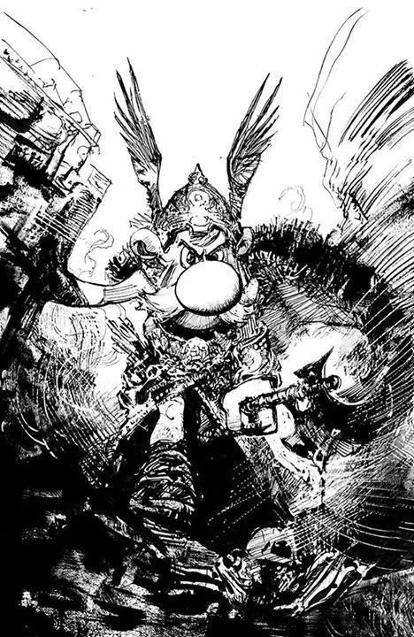 Astérix par Bill Sienkiewicz.