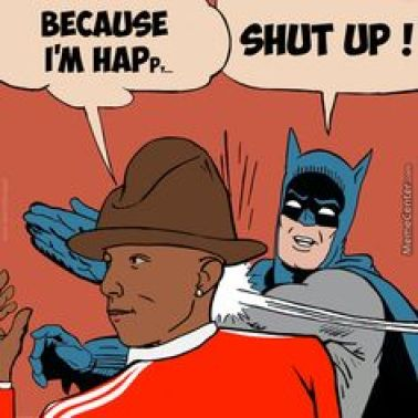 20 mèmes Batman gifle Robin, ici, il gifle Pharrell Williams