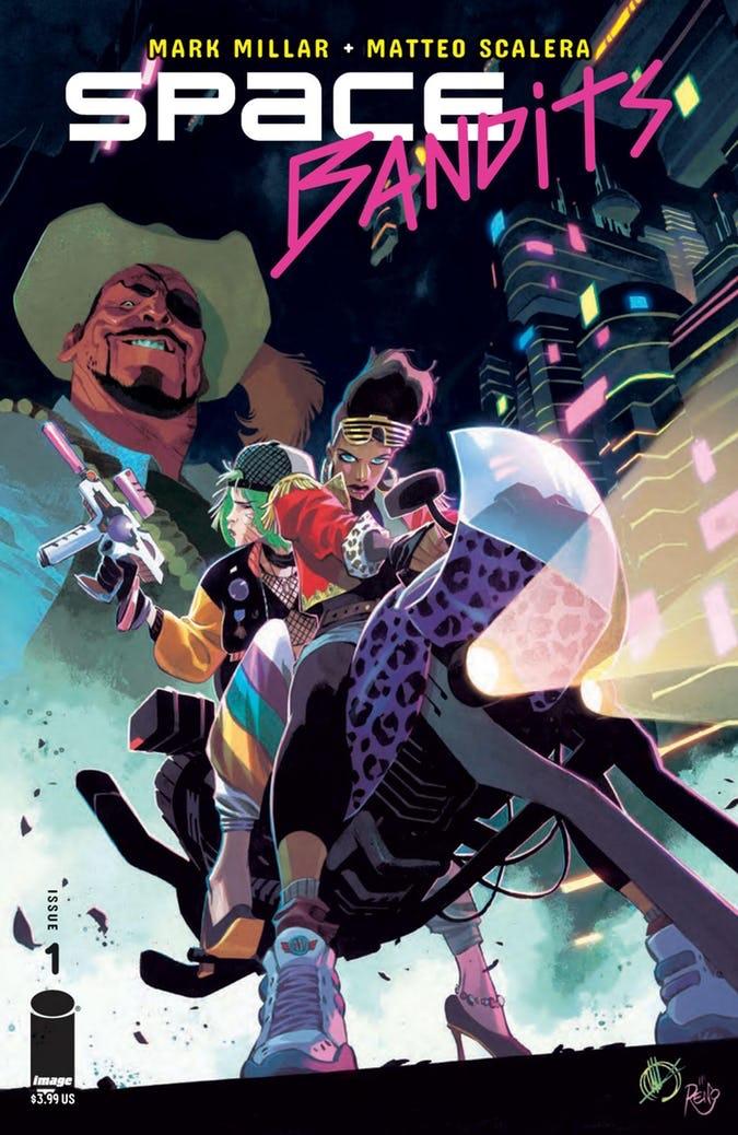 Space Bandits #1, couverture régulière par Matteo Scalera