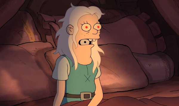 disenchantment-season-1-3-the-princess-of-darkness-luci-possesses-bean-review-episode-guide-list-exorcism