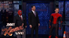 Tom Holland Debuts New Spider-Man: Far From Home Suit on Jimmy Kimmel Live