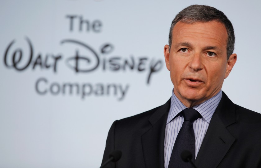Michelle Obama And Disney CEO Robert Iger Hold News Conference On Disney's Nutritional Guidelines