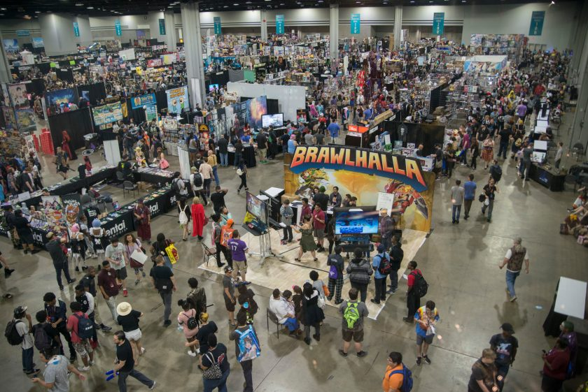 MomoCon 2018 Exhibit Hall (Photo Credit Andrew Michael Phillips)