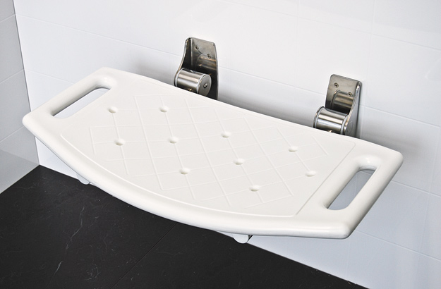 Walltect Folding Shower Seats For Elderly And Disabled SuperQuip Custom Made Shower Rails