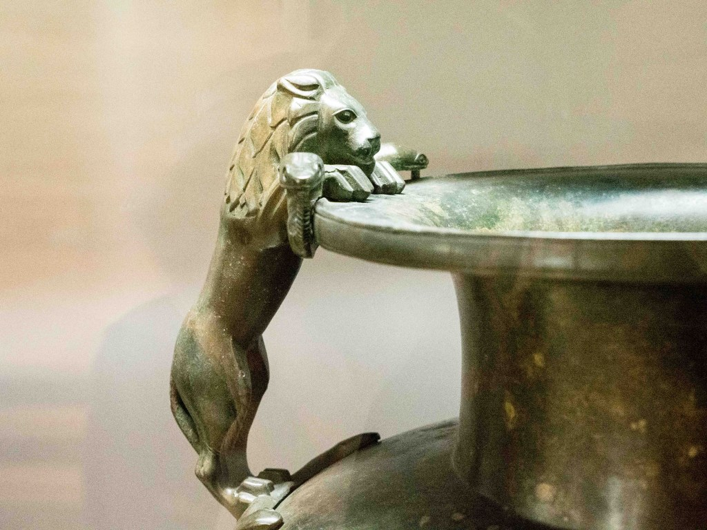 artifact lion bowl