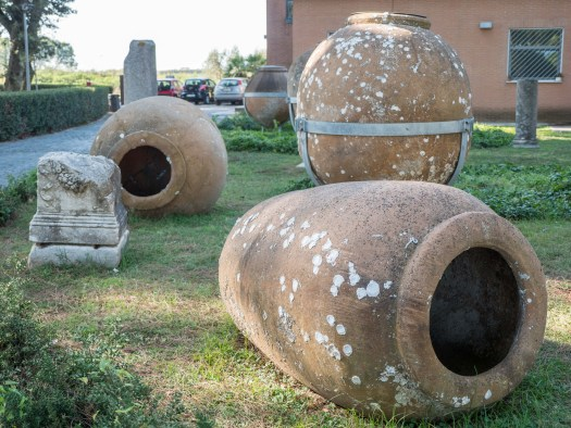 Clay Pots Outside of the Museum