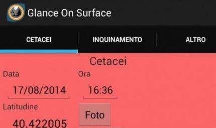 Glance on Surface, l'app per le segnalazioni in mare