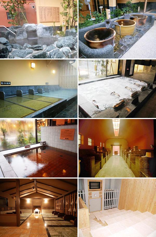 Bath and Sauna in Ofuro no Osama Hanakoganei