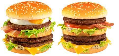 Mega Burgers from McDonald's