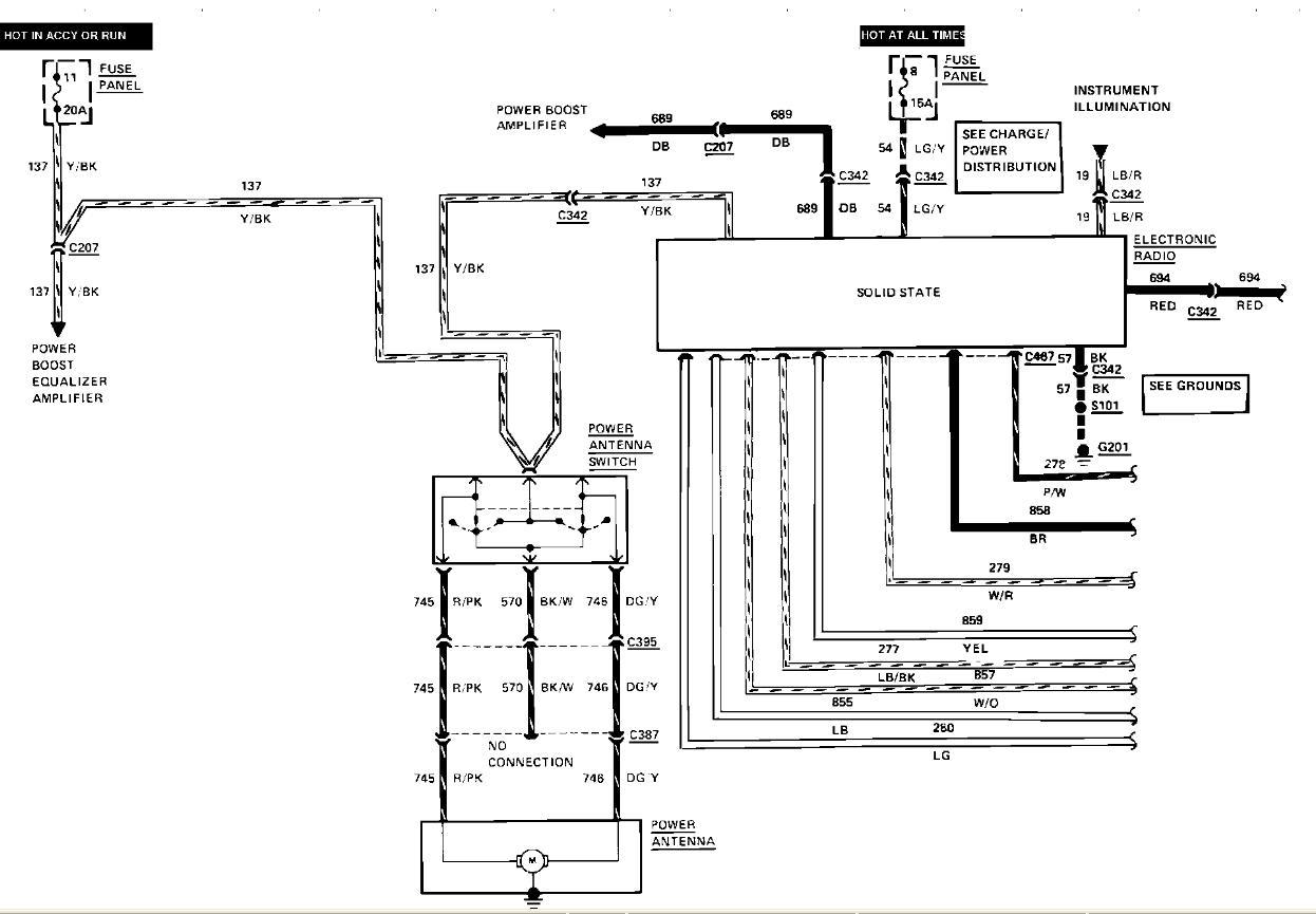 Amplifier Wiring Diagram For 2007 Lincoln Mkz 1990 Lincoln Town Car Wiring Diagram Wiring
