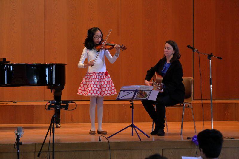 violin student in Stuttgart