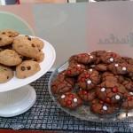 Galletas de avena con chocolate y de chocolate con lacasitos