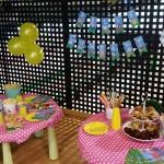 Las mesas del cumpleaños de Laura