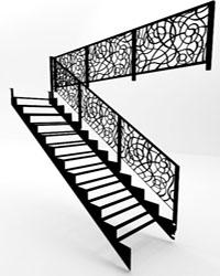 Металлический каркас лестницы на второй этаж Железный марш