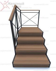 уличная лестница из металла и ДПК