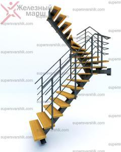 меатллокаркас лестницы на второй этаж Железный марш